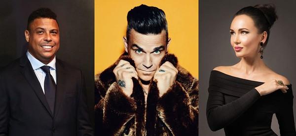 Lễ khai mạc World Cup 2018 sẽ có định dạng hơi khác so với các phiên bản trước đây. Lần này, buổi lễ sẽ tập trung chủ yếu vào các hoạt động âm nhạc và diễn ra gần gũi hơn với trận đấu mở màn Nga vs Saudi Arabia. Trong ảnh là những cái tên Ronaldo, Robbie Williams và Aida Garifullina sẽ là 3 nhân vật chính trong lễ khai mạc.