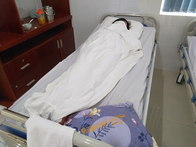 Chị G. đang điều trị tại bệnh viện