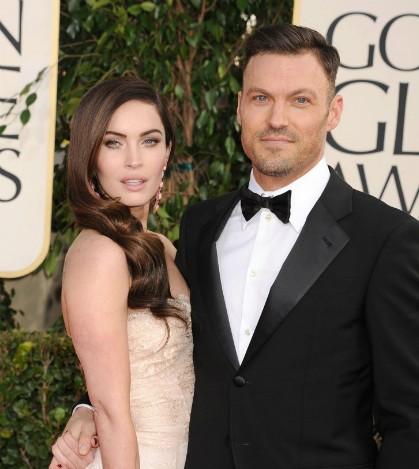 Megan Fox và Brian Austin Green đều sở hữu đôi mắt biếc, tóc đen, trán rộng và hình dạng cằm khá giống nhau