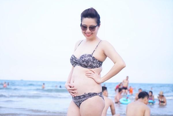 Lê Khánh thấy mình đẹp và hấp dẫn hơn khi mang thai.