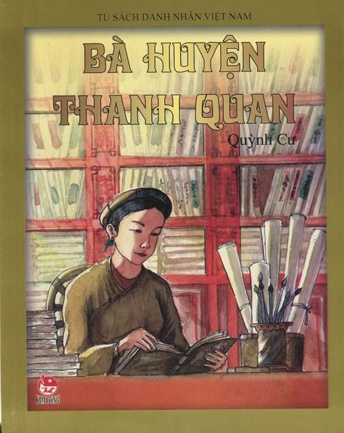 Tranh vẽ bà Huyện Thanh Quan. Ảnh: NXB Kim Đồng.