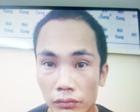 Đối tượng Nguyễn Văn Cường khi bị bắt.