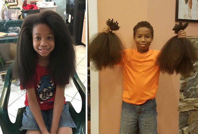 Bất chấp việc bị bạn bè chê cười, cậu bé tốt bụng này vẫn quyết tâm nuôi tóc dài để quyên góp cho các bạn bị mắc bệnh ung thư.