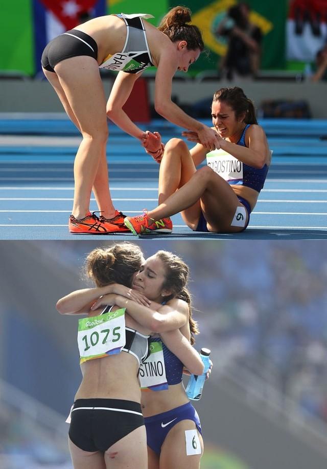 Tại đường đua môn điền kinh Olympic 2016, người ta được chứng kiến khoảnh khắc lịch sử khi một vận động viên dừng lại giúp đỡ đối thủ của mình bị chấn thương trong lúc thi đấu.