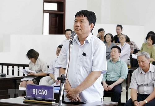 Ông Đinh La Thăng tại Toà (ảnh tư liệu)