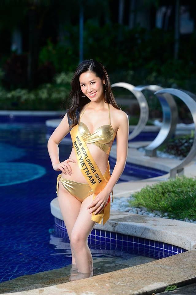 Phần thi bikini của Dương Thuỳ Linh