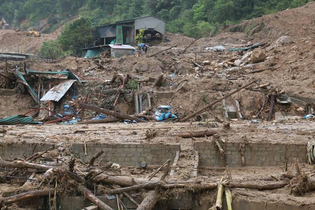 Cảnh hoang tàn trận lũ lịch sử ở Lai Châu. Ảnh: PV