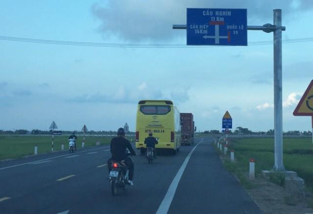 Đoạn đường tránh thị trấn Đông Hưng, tỉnh Thái Bình được Công ty Tasco đầu tư theo hình thức BOT. Ảnh: Tiến Thắng