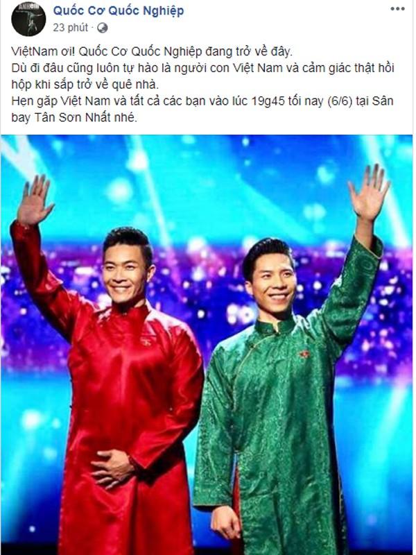 Cách đây ít phút, trên fanpage của hai hoàng tử xiếc chia sẻ dòng thông tin về thời gian trở về của họ.