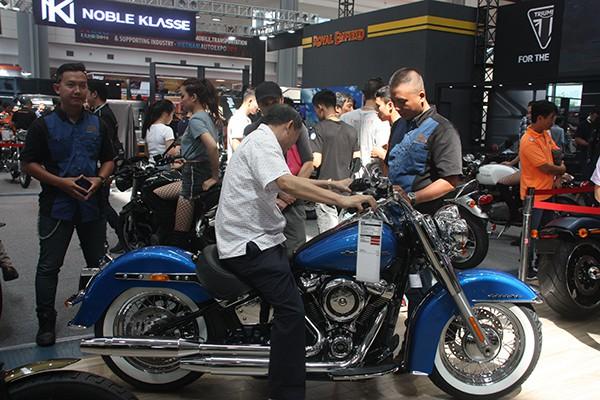 Hãng xe Harley Davidson mang tới trưng bày 9 mẫu xe mới nổi bật.