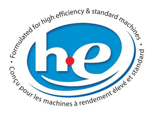 Hãy tìm biểu tượng High Efficiency trên vỏ gói bột giặt để tìm đúng loại bột giặt dành cho giặt máy
