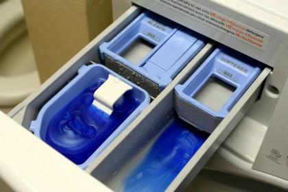 Lưu ý mức xà phòng tối đa bạn có thể sử dụng trên máy giặt