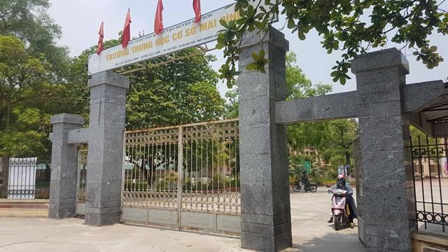 Trường THCS Mai Đình (Sóc Sơn) nơi giáo viên Nông Hoàng Phúc đã công tác nhiều năm nay.