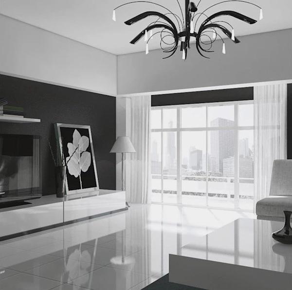 Đèn trong phòng khách không chỉ giúp chiếu sáng mà còn trang trí cho căn phòng khách nhà bạn thêm đẹp, hiện đại.