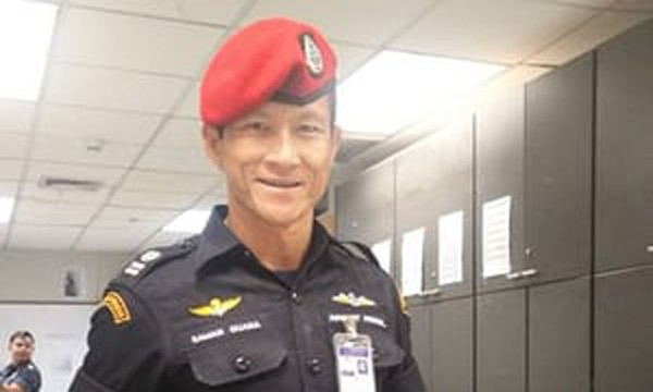 Đặc nhiệm Saman Kunan, người thiệt mạng trong lúc làm nhiệm vụ giải cứu đội bóng nhí kẹt trong hang Tham Luang. Ảnh: Facebook.