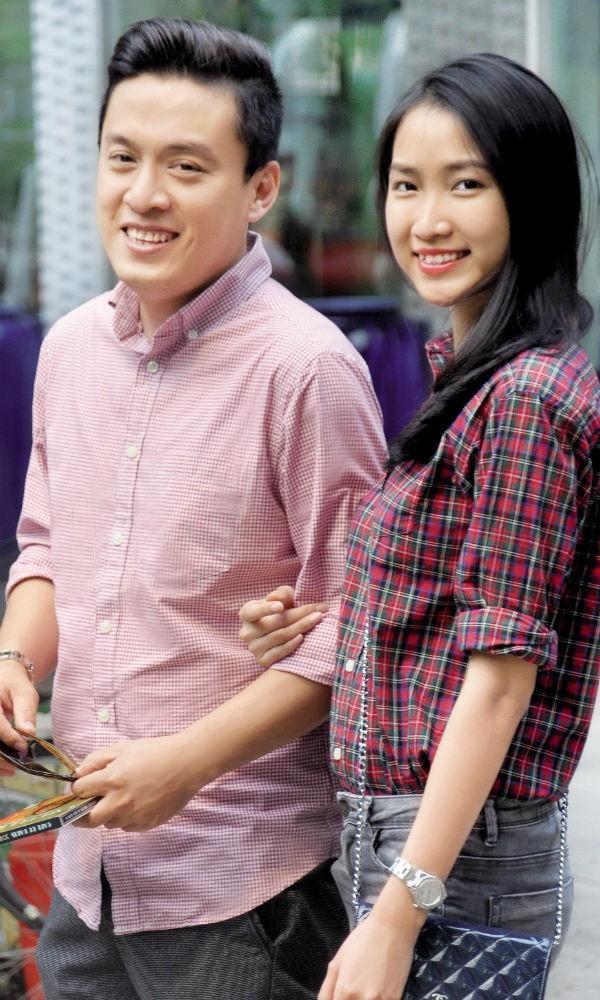 Lam Trường và vợ trẻ Yến Phương.