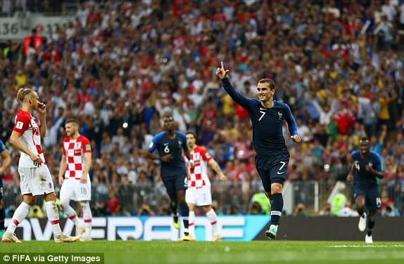 Griezmann ghi dấu ấn trong cả hai bàn thắng của Pháp