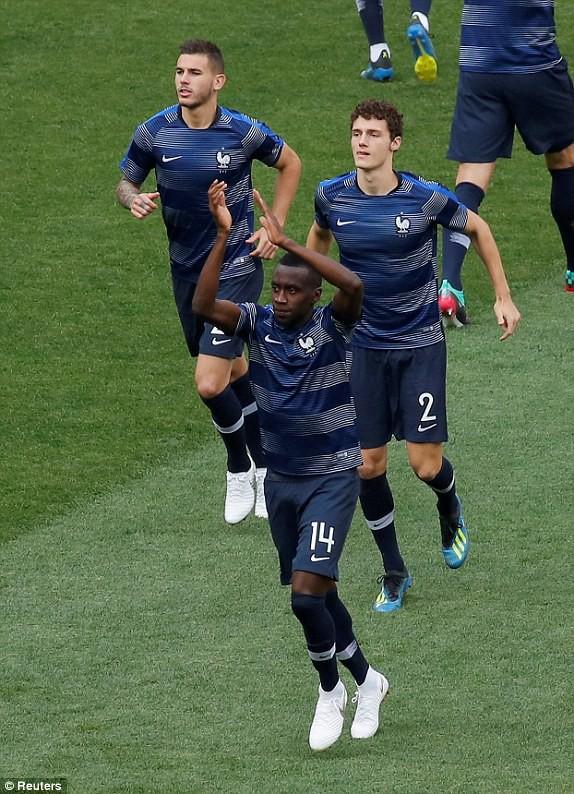 Các cầu thủ Pháp tỏ ra rất tự tin
