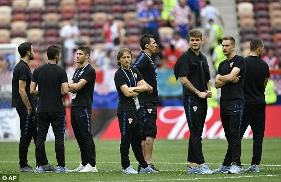 Dàn sao Croatia tỏ ra khá căng thẳng trước trận chung kết