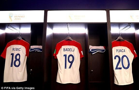 Phòng thay đồ của đội tuyển Croatia