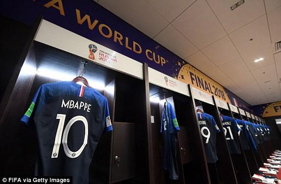 Phòng thay đồ của đội tuyển Pháp