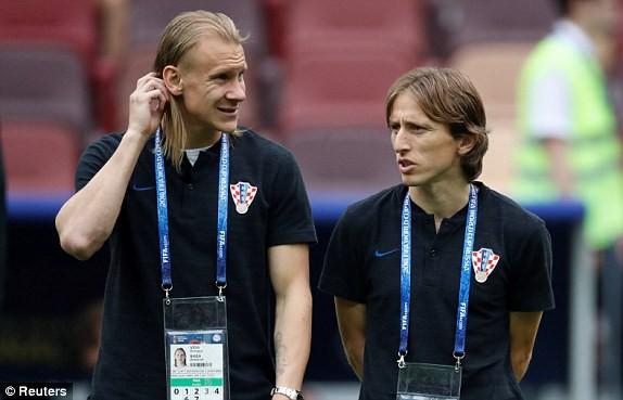 Luka Modric và Vida, hai ngôi sao vô cùng quan trọng của đội tuyển Croatia