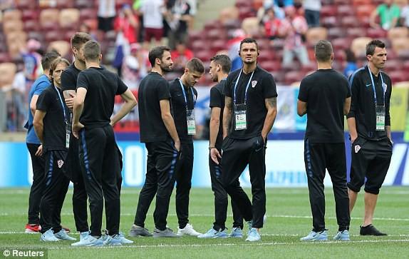 Các cầu thủ Croatia đến sân Luzhniki từ rát sớm