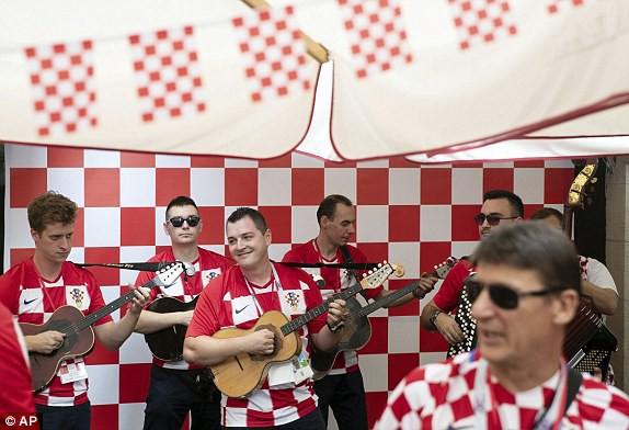 Niềm vui của cổ động viên Croatia
