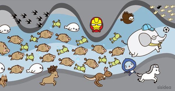 Sức mạnh tập thể được khắc họa bằng tranh vẽ trong cuộc giải cứu đội Lợn hoang.