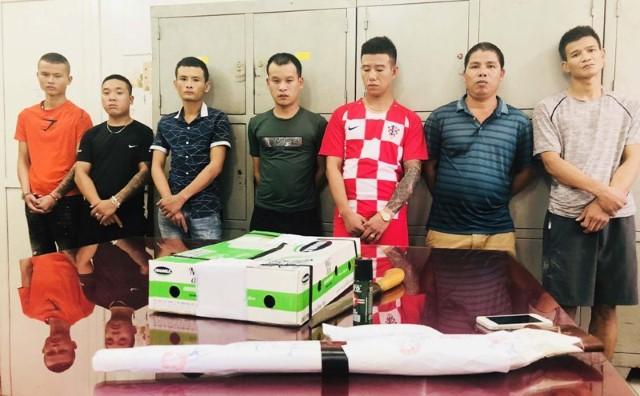 Các đối tượng trong ổ nhóm bị bắt giữ (ảnh công an Thanh Hóa)