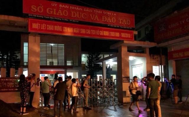 Bên ngoài trụ sở Sở GD&ĐT Sơn La.