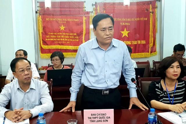 Ông Hồ Tiến Thiệu – Phó Chủ tịch UBND tỉnh Lạng Sơn, Trưởng ban chỉ đạo thi THPT Quốc gia- từ chối cung cấp thêm thông tin cho báo chí.