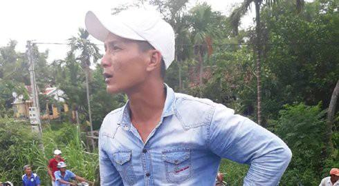 Anh Nguyễn Hữu Thành (quê Long An) tài xế điều khiển xe container. Ảnh: Vietnamnet