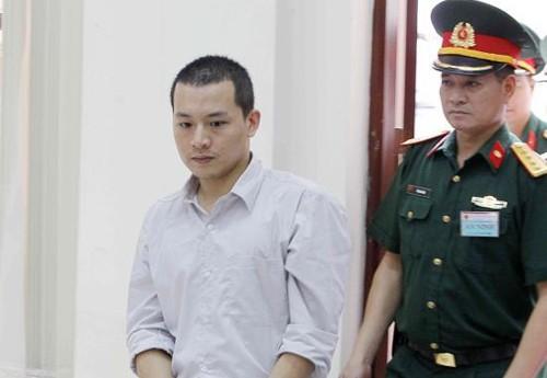 Bị cáo Trần Xuân Sơn tại phiên sơ thẩm. Ảnh: TTXVN.