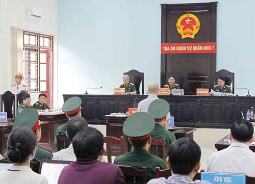Phiên xử diễn ra tại trụ sở tòa án quân sự thủ đô. Ảnh: TTXVN.