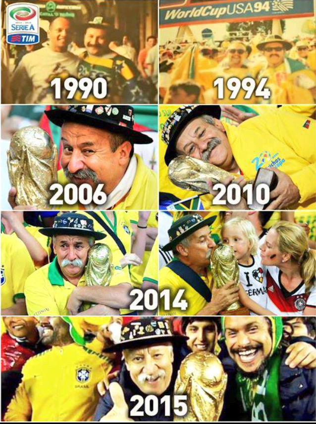 Suốt 25 năm, ông Clovis như người bạn đồng hành thân thiết của đội tuyển Brazil.