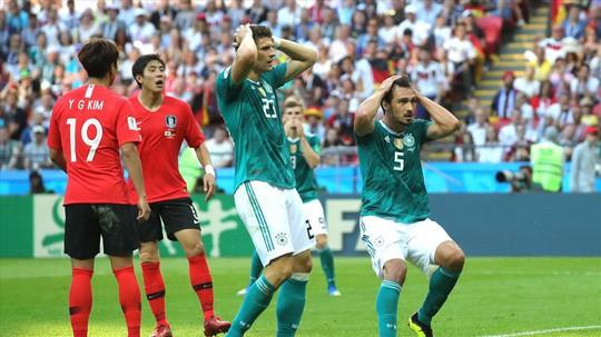 Đương kim vô địch Đức rời khỏi World Cup 2018 gây sốc cho không ít người hâm mộ
