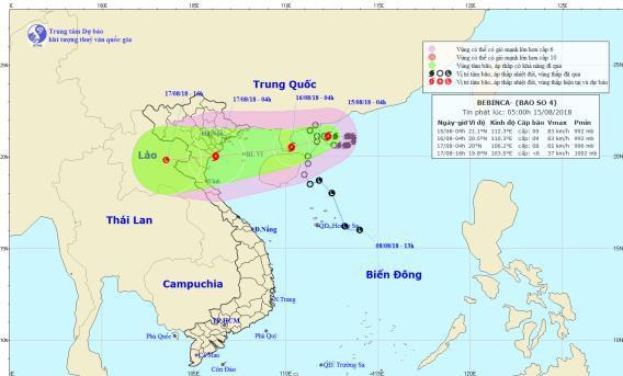 Bão tiến gần bờ Hải Phòng - Thanh Hóa, miền Bắc mưa rất to