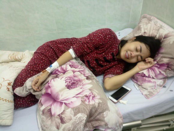 Hình ảnh hiếm hoi của Mai Phương trên giường bệnh được đồng nghiệp chia sẻ. Ảnh: Ngôi sao