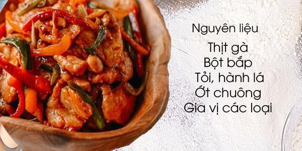 Sử dụng lườn gà kết hợp với gia vị và các nguyên liệu khác tạo nên sự hấp dẫn cho món ăn.