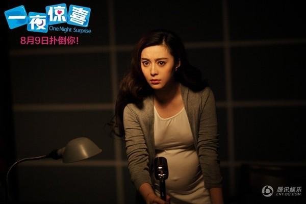 Hình ảnh Phạm Băng Băng mang thai trong phim.