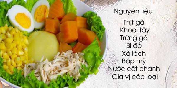 Món salad chủ yếu dùng phương pháp luộc để làm chín nguyên liệu nên rất an toàn và thanh đạm, tốt cho sức khỏe.