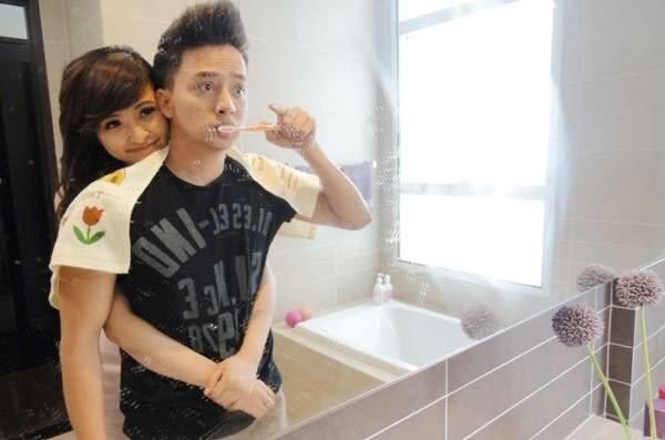 Anh Ngọc quay chung clip ca nhạc với ca sĩ Cao Thái Sơn.