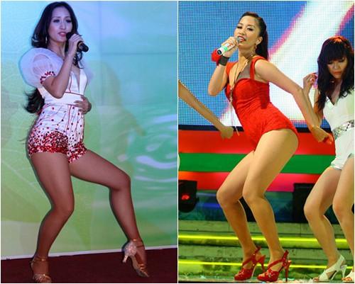 Khánh Thi có một đôi chân vô cùng biểu cảm trên sàn đấu dancesport. Nhưng ngoài đời, đôi chân quá to, hơi ngắn và cặp đùi ếch của Khánh Thi lại trở thành nhược điểm, rất khó để ăn mặc đẹp.