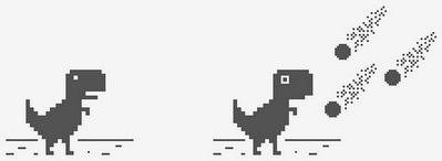 Thiết kế ban đầu của chú khủng long trong game