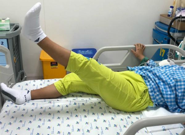 Bệnh nhi hồi phục sau quá trình điều trị. Ảnh: P.V