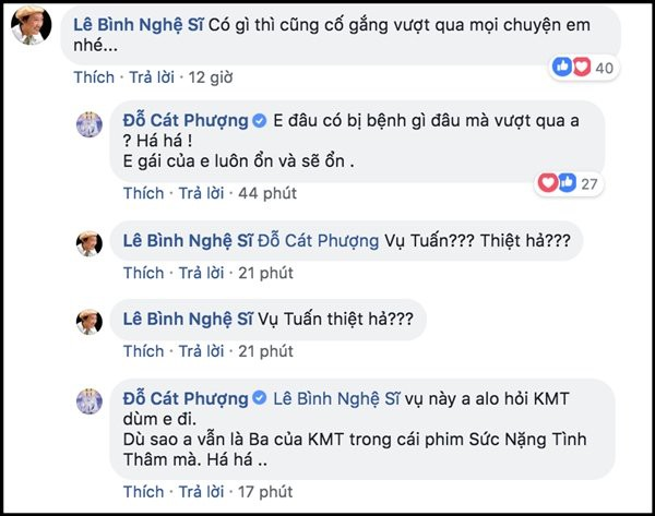 Cát Phượng né tránh trả lời vụ việc của Kiều Minh Tuấn khi được nghệ sĩ Lê Bình hỏi.