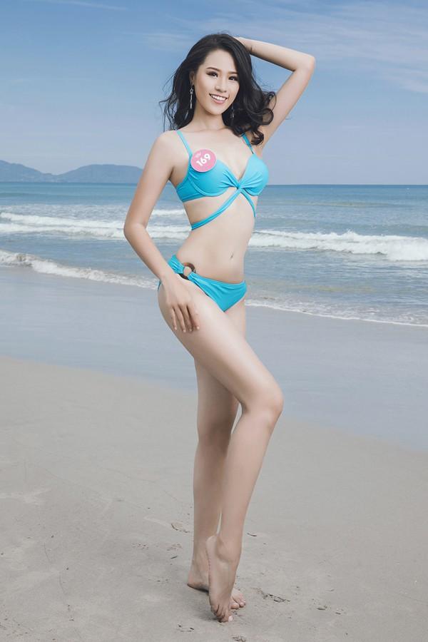 Nguyễn Hoàng Bảo Châu là một trong số những em út của cuộc thi. Cô nàng sinh năm 2000, tốt nghiệp trường THPT Trần Phú, Hà Nội.Cô gái trẻ sở hữu chiều cao 1m73 với các số đo 85 - 60 - 93.