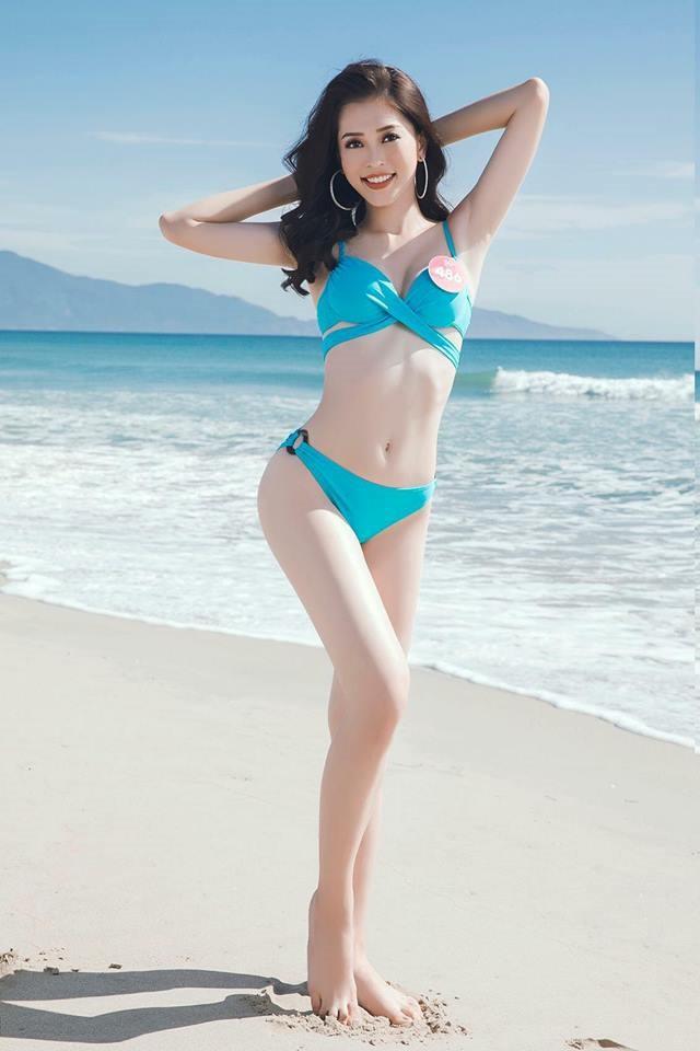 Phương Nga được đánh giá cao về cả nhan sắc và hình thể khi tham gia Hoa hậu Việt Nam 2018. Ảnh: Kiếng Cận, BTC.