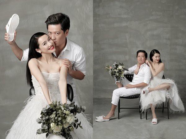 Cặp đôi với hình ảnh giản dị trong bộ ảnh cưới trước đó.